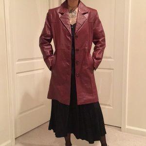 Extreme shoulder genuine leather waist coat